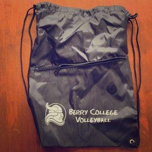 Handbags - Berry college volleyball drawstring Bag
